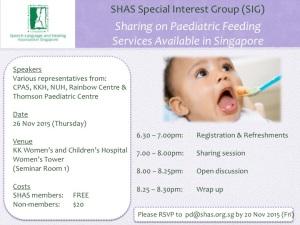 SHAS paediatric feeding